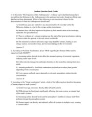 OCEAN 320 Study Guide - Midterm Guide: Rachel Carson, Oil Spill, Anthropocene