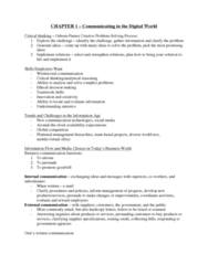 71-100 Chapter Notes - Chapter 1: Business Communication, Ethical Decision, Critical Thinking
