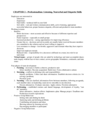 71-100 Chapter Notes - Chapter 2: Nonverbal Communication, Soft Skills, Active Listening