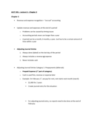 ACCT 201 Lecture Notes - Lecture 3: Deferral, Deferred Income, Accrual