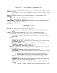 73-100 Chapter Notes - Chapter 1-2: Data Mining, Time Series, Eurostat