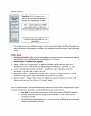 HLTB41H3 Lecture Notes - Lecture 4: Social Stratification