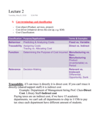 MGAB03H3 Lecture Notes - Lecture 2: Quantitative Research, Cost Driver
