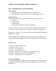 LAWS104 Lecture Notes - Lecture 1: Curia Regis, Colonial Laws Validity Act 1865, Precedent