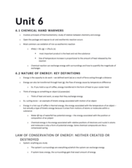CHEM 217 Lecture Notes - Lecture 6: Intensive And Extensive Properties, Endothermic Process, Chemical Equation