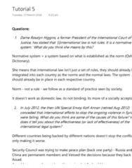 LAWS1111 Study Guide - Final Guide: Racial Discrimination Act 1975, Kofi Annan