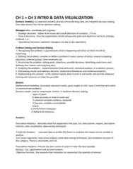 OPRE 3333 Lecture Notes - Lecture 1: Bar Chart, Sparkline, Time Series