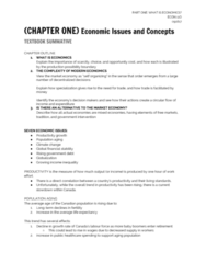 ECON 110 Chapter Notes - Chapter 1: International Monetary Fund, Technological Change, Population Ageing