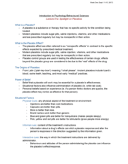 46-115 Lecture Notes - Lecture 1: Osteoarthritis, Morphine, Suggestibility