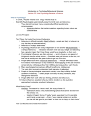 46-115 Lecture Notes - Lecture 2: Ulric Neisser, Spiritualism, Wilhelm Wundt