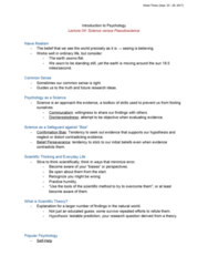 46-115 Lecture Notes - Lecture 4: Opportunity Cost, Apophenia, Terror Management Theory