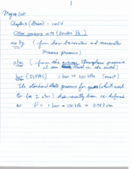 CHEM 1010 Lecture 3: gases