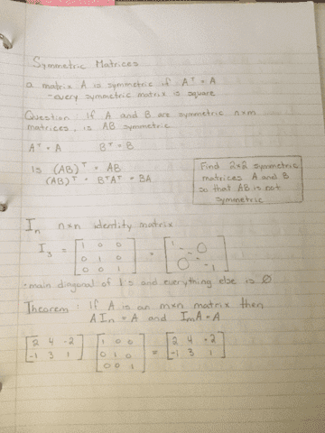 math-211-lecture-8-matrices-symmetry-the-identity-matrix-inverses-of-transposes-and-products-elementary-matrices