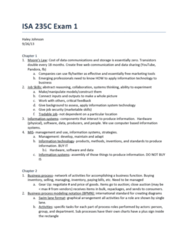 ISA 235 Study Guide - Midterm Guide: Customer Service, Barcode, Software As A Service