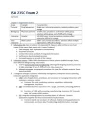 ISA 235 Midterm: Exam 2 Study Guide