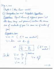 CHEM 1010 Lecture 4: May 11 Notes