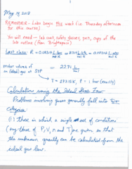 CHEM 1010 Lecture 5: May 14 Notes