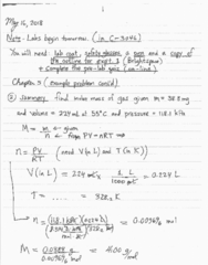 CHEM 1010 Lecture 6: May 16 Notes