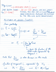CHEM 1010 Lecture 7: May 17 Notes