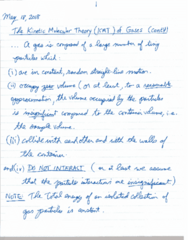 CHEM 1010 Lecture 8: May 18 Notes