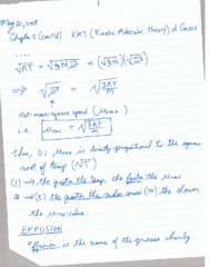 CHEM 1010 Lecture 9: May 21 Notes