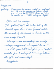 CHEM 1010 Lecture 11: May 24 Notes
