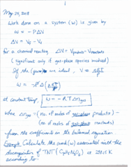 CHEM 1010 Lecture 12: May 25 Notes