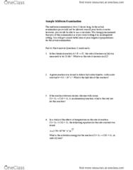CHEM 217 Study Guide - Midterm Guide: Reversible Reaction, Bayerischer Rundfunk, Equilibrium Constant