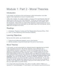 PHIL 331 Lecture 2: Module 1 The Basis of Reasoning Part 2