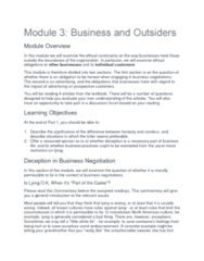 PHIL 331 Lecture 5: Module 3 Business and Outsiders