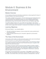 PHIL 331 Lecture Notes - Lecture 9: Primum Non Nocere, Environmental Ethics, Business Ethics