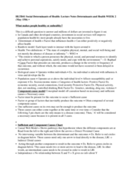 HLTB41H3 Lecture Notes - Lecture 2: Socioeconomic Status, Food Security