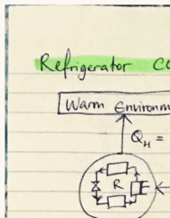 ENGG1500 Lecture 20: heat pump, heat engine and refrigeration