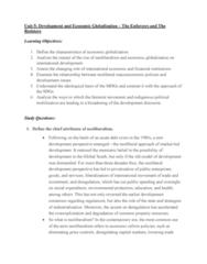 GOVN 444 Lecture Notes - Lecture 5: Washington Consensus, Economic Globalization, Classical Liberalism