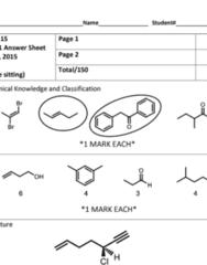 CHM247H1 Study Guide - Midterm Guide: Alkyne, Alkene