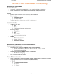 PSYC20009 Lecture Notes - Lecture 1: Multichoice, Lab Report, Social Influence