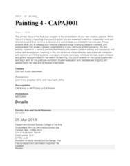 CAPA3001 Lecture Notes - Lecture 1: Sydney Grammar School