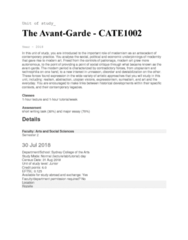 CATE1002 Lecture Notes - Lecture 1: Sydney Grammar School