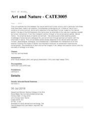 CATE3005 Lecture Notes - Lecture 1: Anthropocene, Presentation Of A Group, Sydney Grammar School