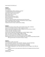SOC 248 Midterm: Study Guide Exam 1