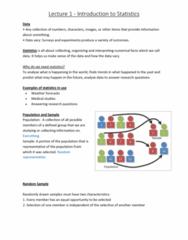 6540 Lecture Notes - Lecture 1: Box Plot, Level Of Measurement, Standard Deviation
