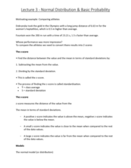 6540 Lecture Notes - Lecture 3: Sample Space, Heptathlon, Unimodality