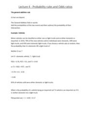 6540 Lecture Notes - Lecture 4: Venn Diagram