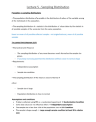 6540 Lecture Notes - Lecture 5: Unimodality, Randomized Experiment, Normal Distribution