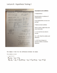 6540 Lecture Notes - Lecture 8: Test Statistic