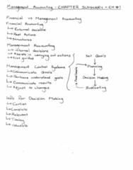 MGAB03H3 Chapter 1: Accounting - Chapter 1
