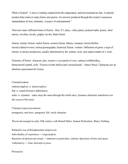 ENGL 91C Lecture Notes - Lecture 1: Flash Fiction, Historical Fiction, Antihero