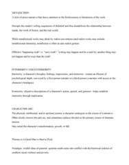 ENGL 91C Lecture Notes - Lecture 6: Metafiction, Plot Twist