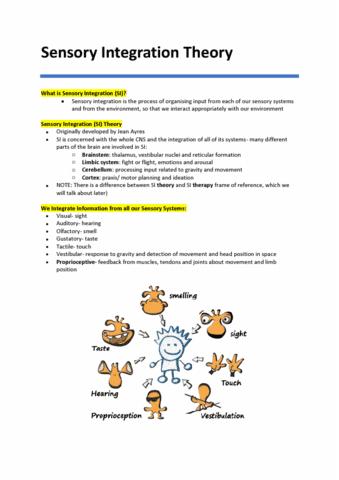PAED3000 Lecture Notes - Winter 2017, Lecture 3 - Cerebellum ...