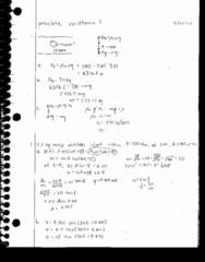 PHY 126 Midterm: Midterm I Practice